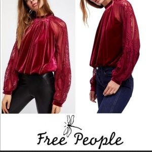 Free People Dream Team Raspberry Top